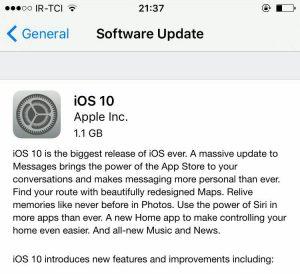 نسخه 10 iOS منتشر شد!